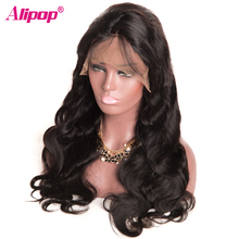 ALIPOP 360 Lace Frontal Wig Brazilian Body Wave Human Hair Wigs for Black Women 150 Density Swiss Lace Non Remy Pre Plucked Wig