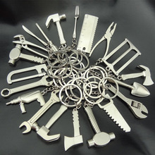 RE 100pcs/Lot Mini Tools Keychain Key Chain Fashion Gifts Keychains Keyring Wholesale