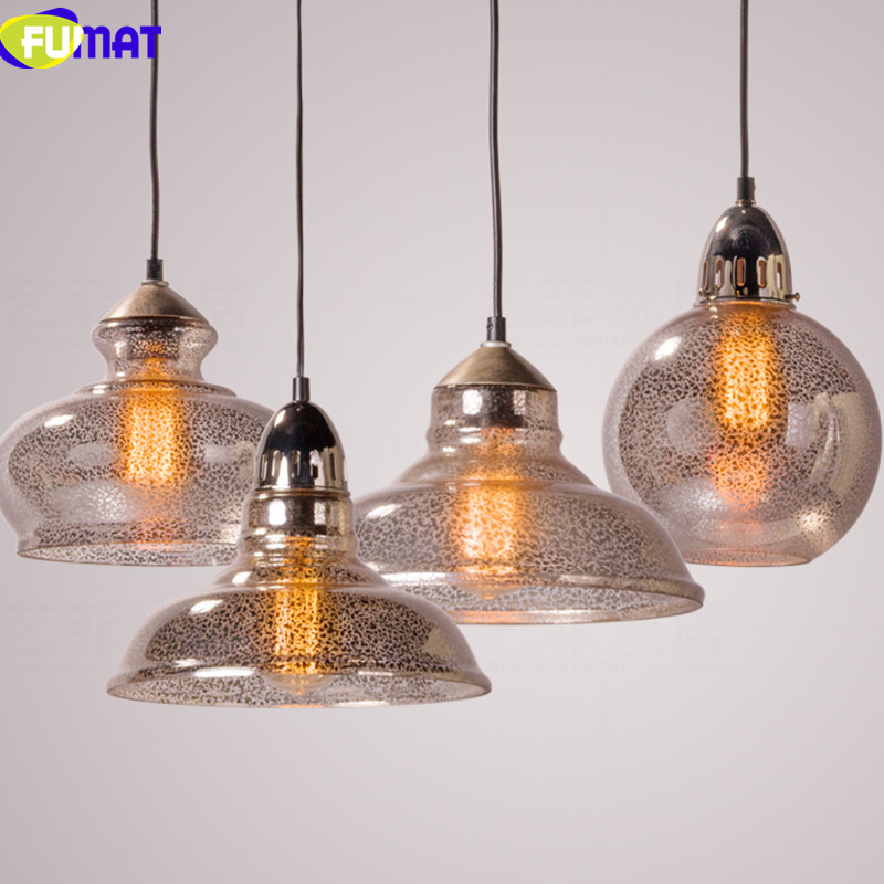 FUMAT American Retro Glass Pendant Light Dinning Room Pendant Lamps Simple Bedroom Balcony Corridor Vintage Glass Hanging Lamp american living room hanging lamp retro copper balcony bedroom lights corridor aisle entrance bar restaurant glass pendant lamps