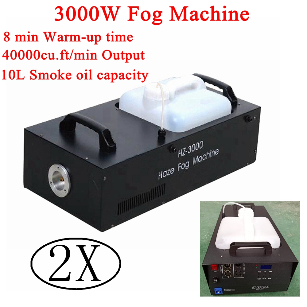2XLot faible consommation d'énergie 3000W sans fil télécommande machine à brouillard pour fête mariage noël scène brumisateur machine