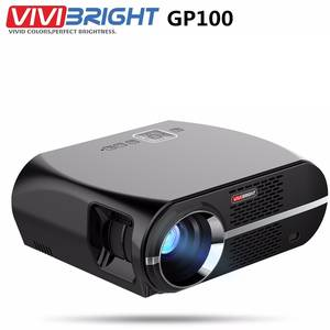 VIVIBRIGHT Projector GP100 Android Lcd Home Video Bluetooth 1080P LED Lumen Theater WIFI