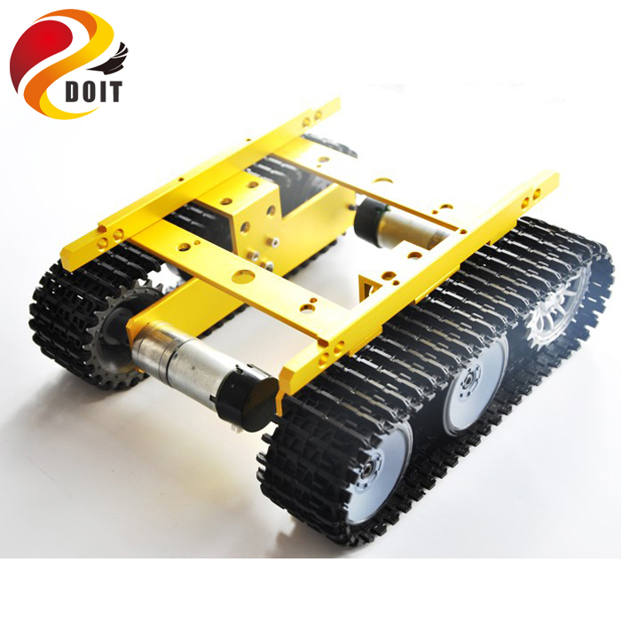 DOIT Tank Chassis car kit with Speed Sensor Creeper Truck Tracked Smart Car with High Torque Motors and Hall Sensor DIY Toy official doit wall e tank smart car chassis tracked cars high torque motors and steel structure remote control smart car parts