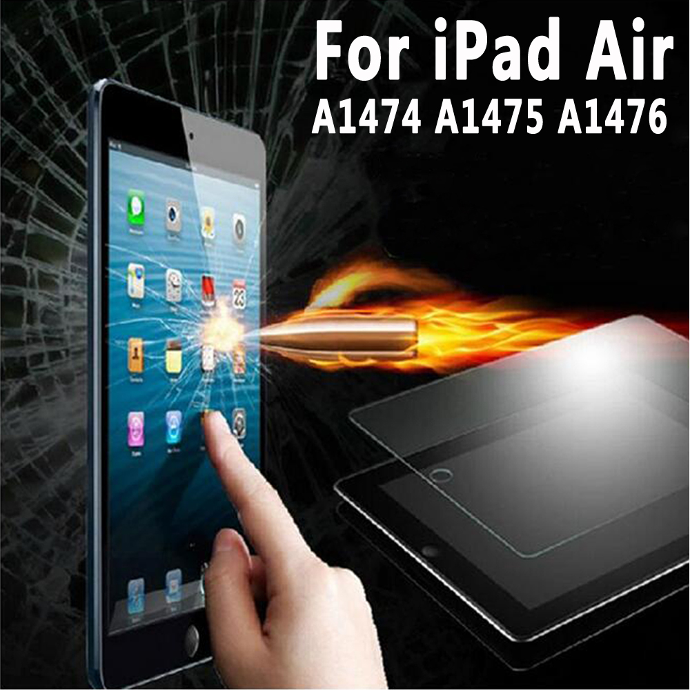 100% High Guality Reinforced Tempered Glass for Apple iPad Air Screen Protector for iPad Air / iPad 5 A1474 A1475 A1476 9.7 inch