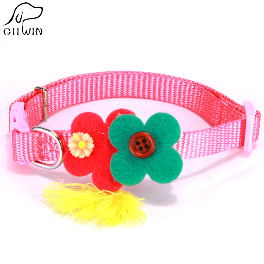 Popular dog collar flower buy cheap dog collar flower lots from collar and lead for small dog and cats flower dog collars pet accessories cat collar for puppy and kitten imatation nylon ys0048 dhlflorist Choice Image