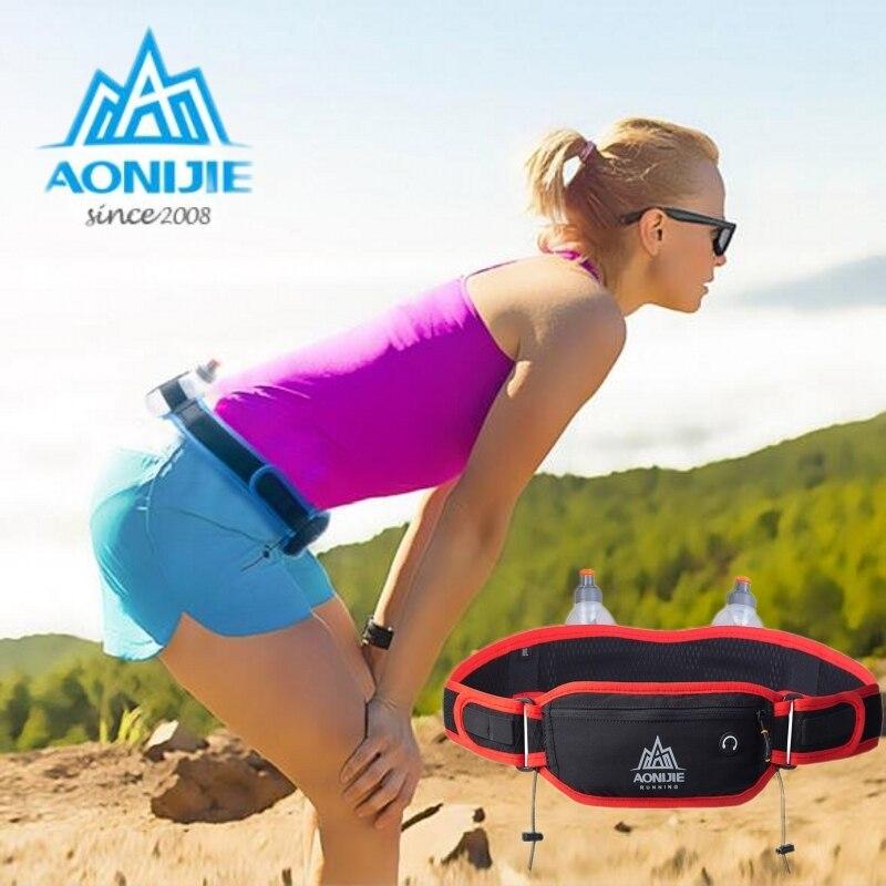 Sports de plein air taille sac hommes femmes course hydratation ceinture taille sac Pack support pour téléphone pour 170 ml bouteilles d'eau
