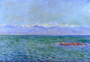 High quality Oil painting Canvas Reproductions The Sea and the Alps (1888)  By Claude Monet hand painted