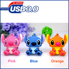 Pen drive 64GB, cartoon stitch usb flash drive usb3.0 memory pendrive stick 32GB/16GB/8GB Pen Drive usb Stick, Free shipping!