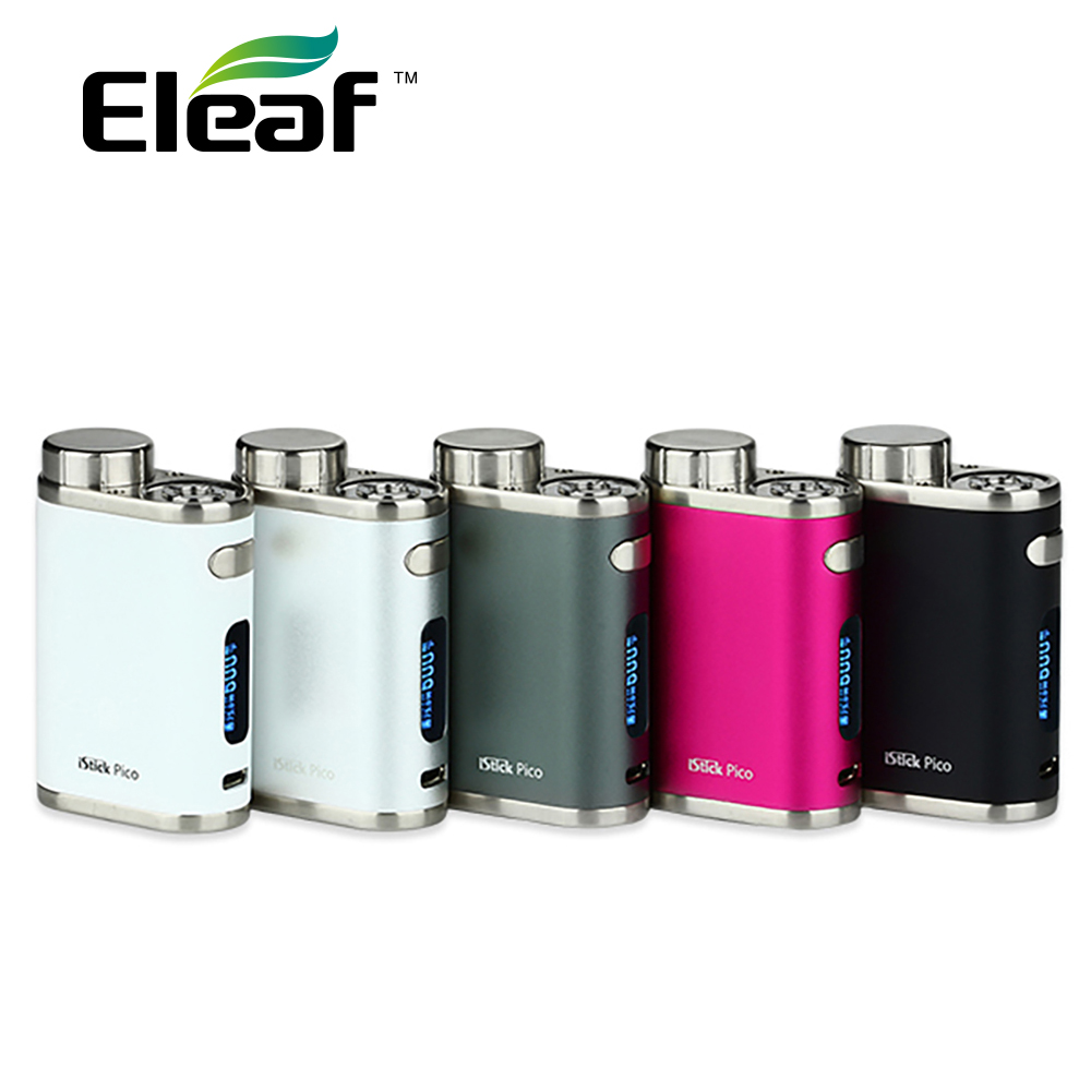 HOT SALE! 75W Eleaf iStick Pico TC Box MOD E-cigarette Vape Temper Control Mod without 18650 Battery fit Melo 3 Mini Atomizer original lost vape therion dna75 75w tc box mod