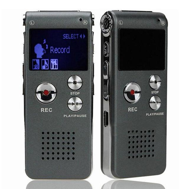 Beautiful Gift 100 Brand New 2016 Digital Audio Voice Recorder Rechargeable Dictaphone Telephone MP3 Player Free Shipping Dec08
