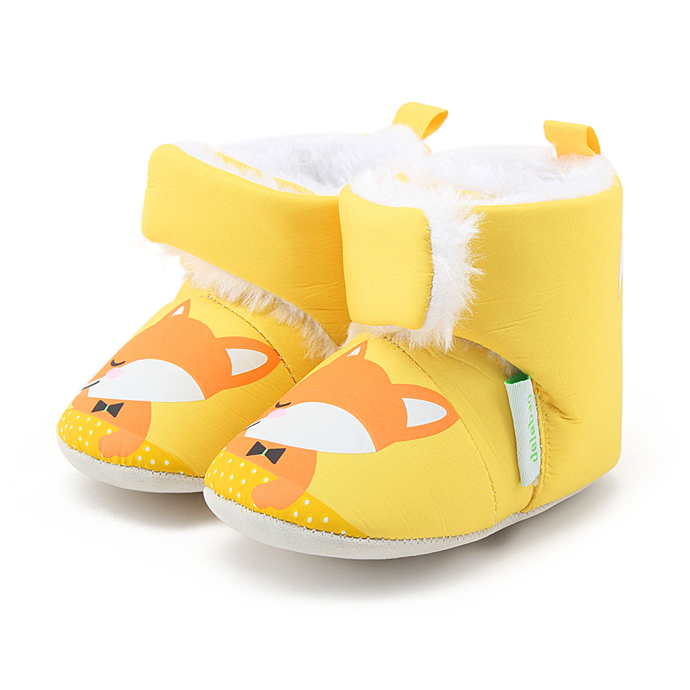 Thickened Plush Baby Boots Pure Cotton Comfortable Warm Winter Boots Infant Toddler Super Cute Animal Baby Shoes in Boots from Mother Kids