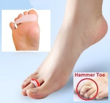 2 Pairs=4pc Hammer Claw Toe Corrector Gel silicon Cushion Splint Pain Relief