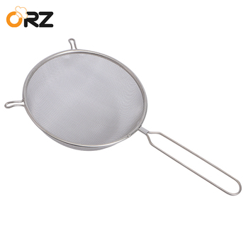 ORZ Fine Mesh Strainer Flour Sifter Sieve Colander Stainless Steel Wire Oil Strainer Kitchen Baking Cooking Tools Food Filter
