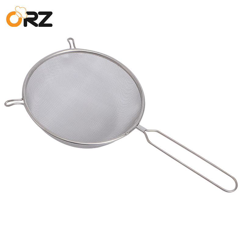 Stainless Steel Double Layer Mesh Flour Sifter with Handle T1