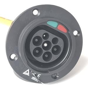 Image 4 - 32A Einphasig Elektrische Fahrzeug Auto EV Ladegerät SAE J1772 Buchse Typ 1 Zu Typ 2 EV Auto Adapter Lade stecker 1.64Ft Kabel