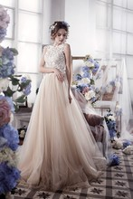 Romantic A-Line Tulle Lace Wedding Dresses Vintage Backless Gowns Robe De Mariage 2016 Casamento Bride W1124L
