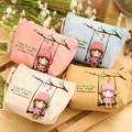 20 PCS Korean Candy Colored Girls Canvas Coin Bags Women Key Wallets Cute Cartoon Cartoon Mini Coin Purse Children Kids Gifts