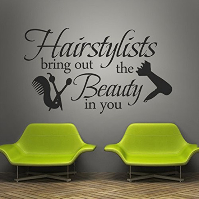 Hair Salon Vinyl Wall Decal Graphic Beauty Salon Shop Decor