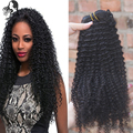 7A African American Clip In Human Hair Extensions Malaysian Kinky Curly Clip in Hair Natural Black 9pcs Remy Curly Clip Ins Hair