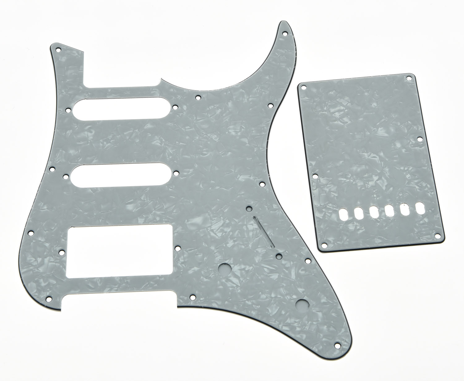 White Pearl Guitar Pickguard w/ Back Plate and Screws fits Yamaha PACIFICA