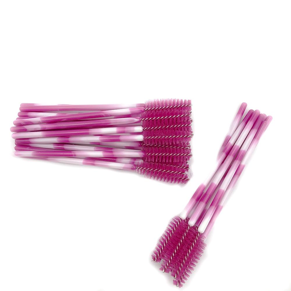 Image 4 - mikiwi eyelash brush makeup brushes 50pcs individual disposable brush applicator  lash makeup brushes tools 16colors new product-in False Eyelashes from Beauty & Health