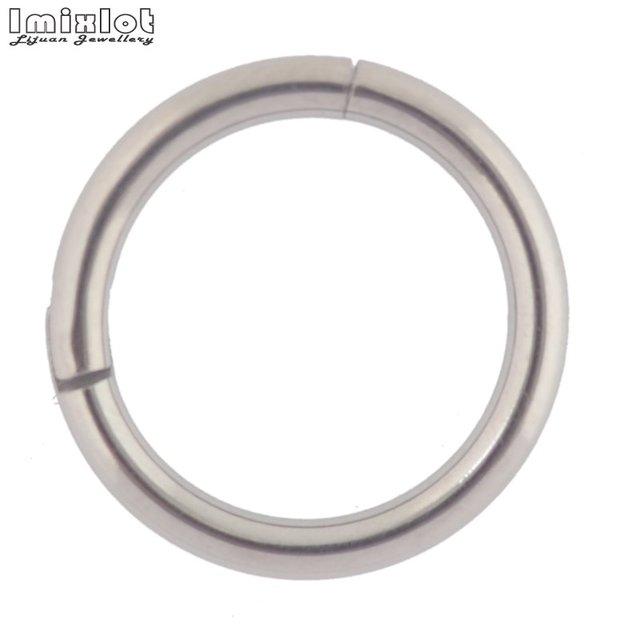 1 PC Titanium Hinged Segment Nose Ring 16g&14g Nipple Clicker Ear Cartilage Tragus Helix Lip Piercing Unisex Fashion Jewelry