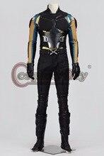 Cosplaydiy X-Men:Days of Future Past Logan Cosplay Costume Adult Men Superhero Outfit Jacket Halloween Uniform Custom Made D101