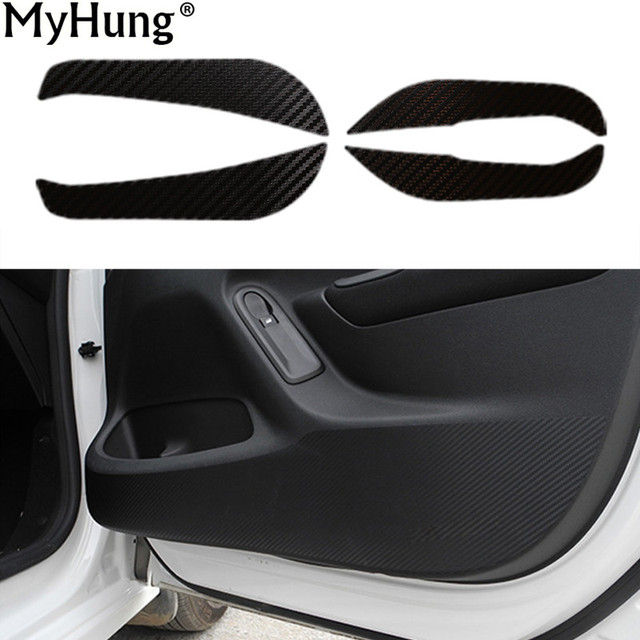 High Quality For Peugeot 2008 Car Door Protector Side Edge Protection Pad Carbon Fiber  Car Stickers Anti