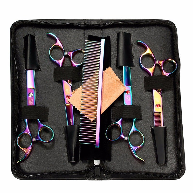 Professional Pet Grooming Scissors Set Cutting & Thinning & Curved Scissors For Dog Cat Animal Barber Shears High Quality все цены