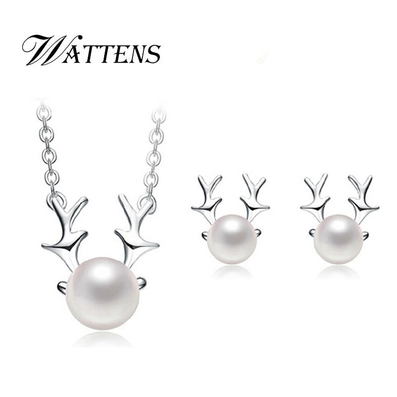 2120693f447c ②Wattens Alibaba conjunto de perlas naturales