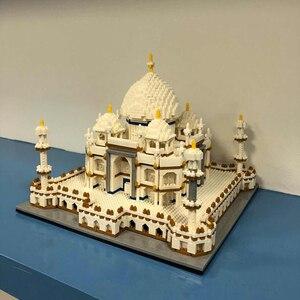 Image 4 - Architecture block set Landmarks Taj Mahal Palace Model Building Blocks Children Toys Educational 3D Bricks Kids Gifts