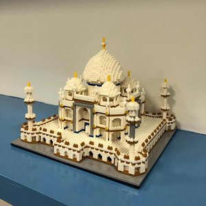 Image 4 - Mimari blok seti merkezi Taj Mahal Palace modeli yapı taşları çocuk oyuncakları eğitici 3D tuğla çocuklar hediyeler