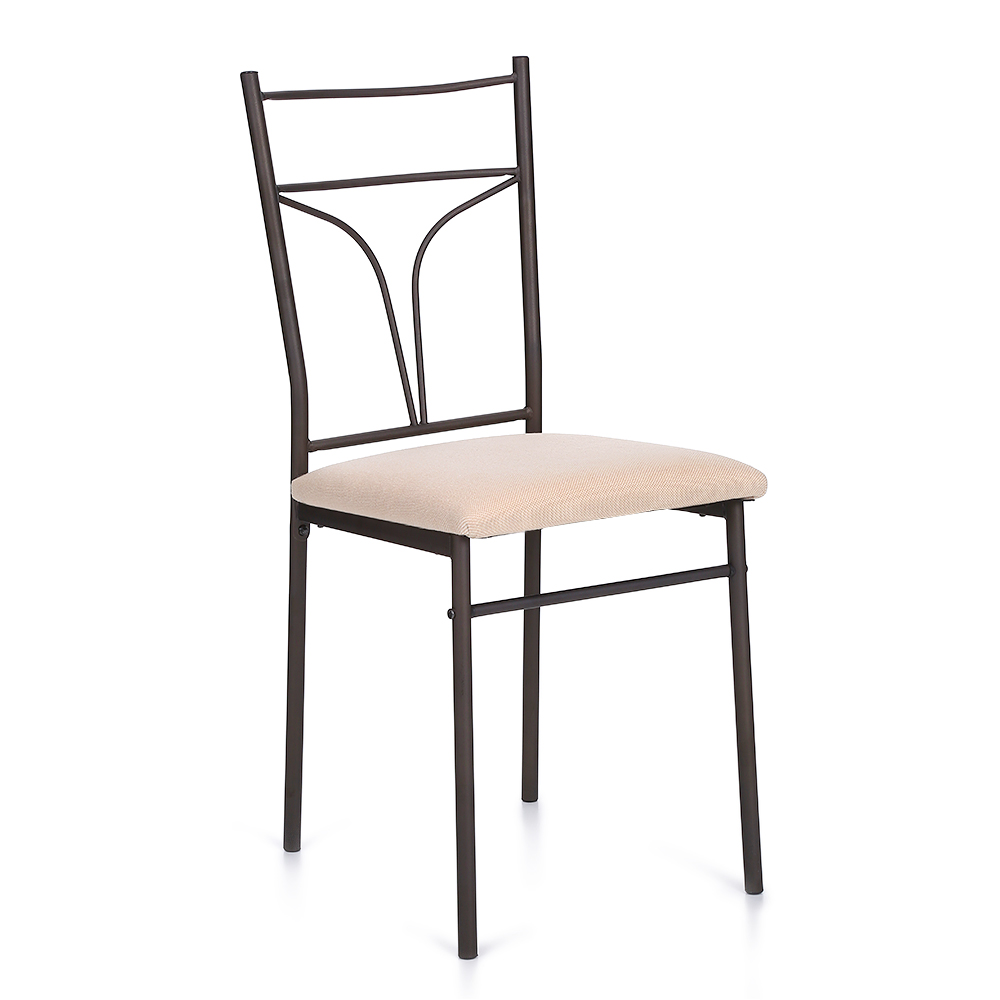 iKayaa US UK FR Stock 5PCS Modern Metal Frame Kitchen Table Chairs Set for 4 Person
