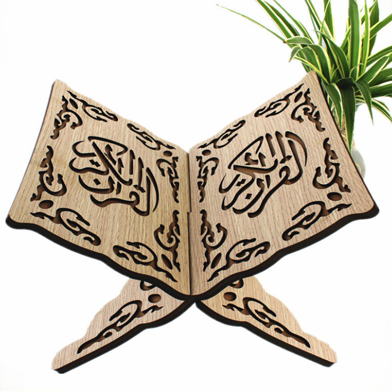 Wooden bookshelf Muslim Koran Bookshelf Everything is new Display Appliance Prayer wooden platform Muslim Book shelf in Jewelry Packaging Display from Jewelry Accessories