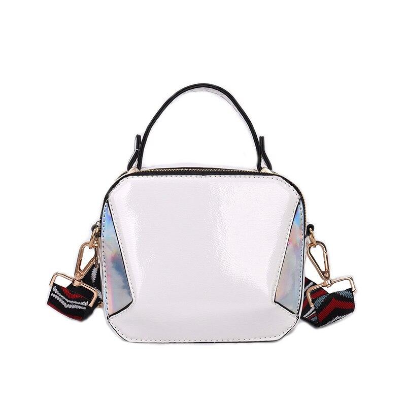 Dropshipping Women Bag High Quality PU Leather Shoulder Bag Color Strap Flap For Tteenage Girls Fashion Crossbody Bag For Women