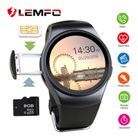 LEMFO KW18 Smart Watch Passometer SmartWatch Sim Card Heart Rate Monitor Smart Watches For IOS Android Phone Reloj Inteligente