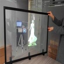 1.52×1 m 3D Holograficzny Tylnej Projekcji Filmu z 92% wysoka Przepuszczalność dla Reklamy