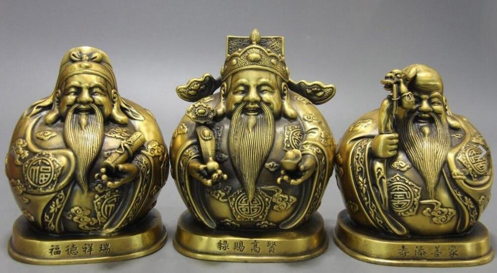 Details about  China Brass Copper Fu Lu Shou Longevity God Yuanbao Fukurokuju Buddha Statue Set Details about  China Brass Copper Fu Lu Shou Longevity God Yuanbao Fukurokuju Buddha Statue Set