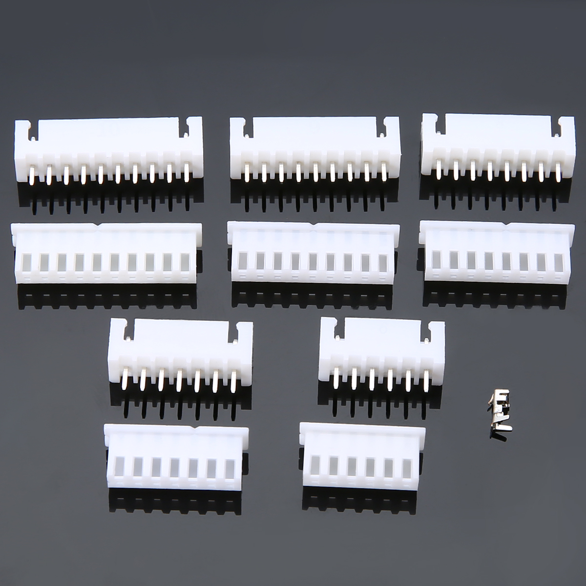 все цены на  25 Set JST-XH 2.54mm Pitch Terminal Housing PCB Header Wire Cable Connectors 6P/7P/8P/9P/10 Pin Way  онлайн