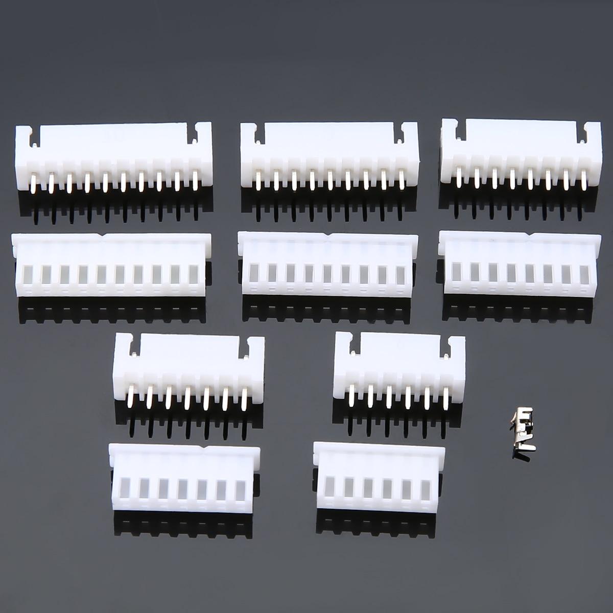 25 Set JST-XH 2.54mm Pitch Terminal Housing PCB Header Wire Cable Connectors 6P/7P/8P/9P/10 Pin Way 1804849[pluggable terminal blocks 7 pos 7 62mm pitch through mr li
