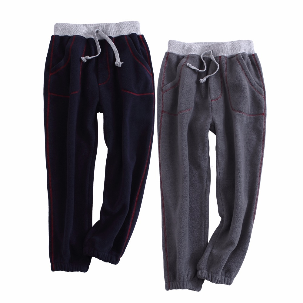 Autumn/Winter Warm Pants Kids Thickened Trousers Fleece For Boy Casual Trousers Children Clothing Comfortable Boys Pants boy child casual pants autumn and winter child trousers plus velvet 2017 children s clothing autumn thickening big boy trousers