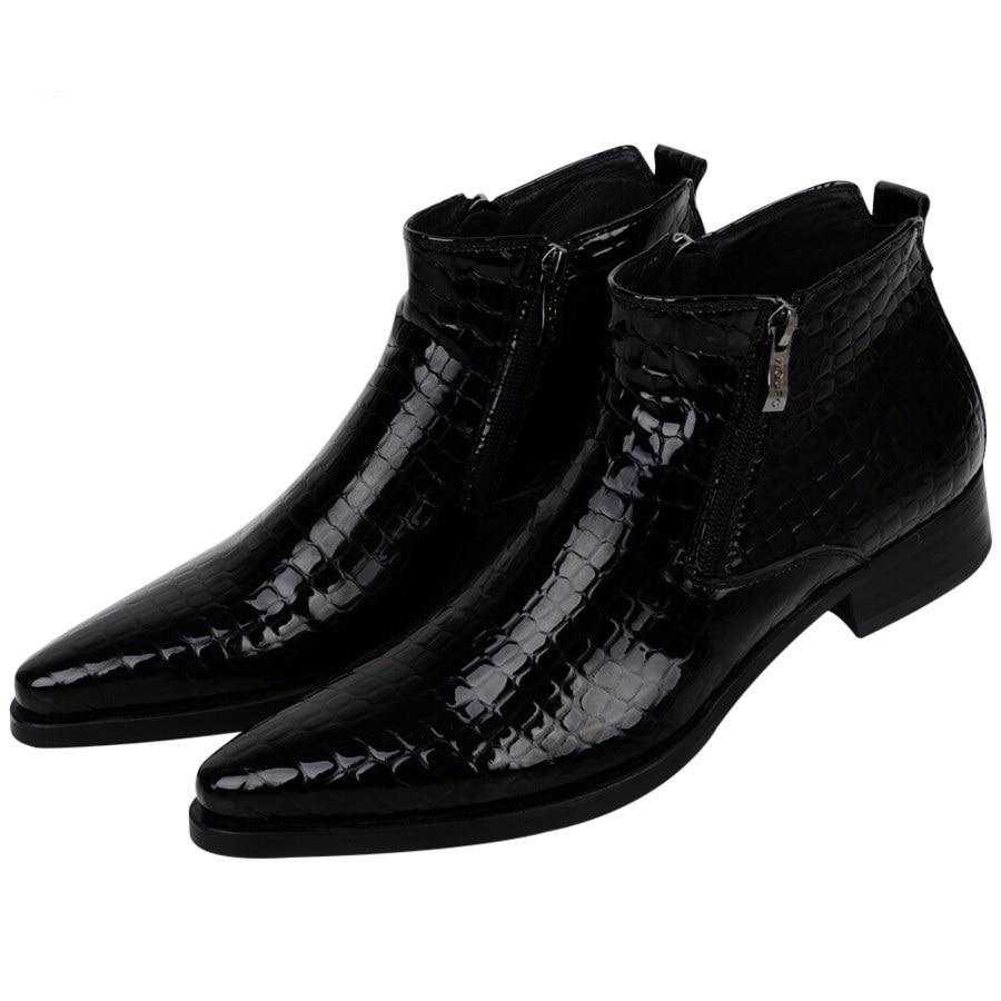 De gran tamaño EUR46 Serpentina azul/negro para hombre botines zapatos del banquete de boda zapatos de hombre zapatos de vestir de cuero genuino