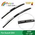 """1 set Wiper blades for Suzuki SX4(2006-),14""""+26"""",car wiper,3 Section Rubber, windscreen wiper, Car accessory"""