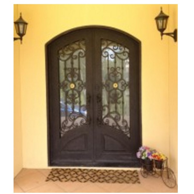 Aluminium Gl Double Entry Doors Lowes Arched Metal