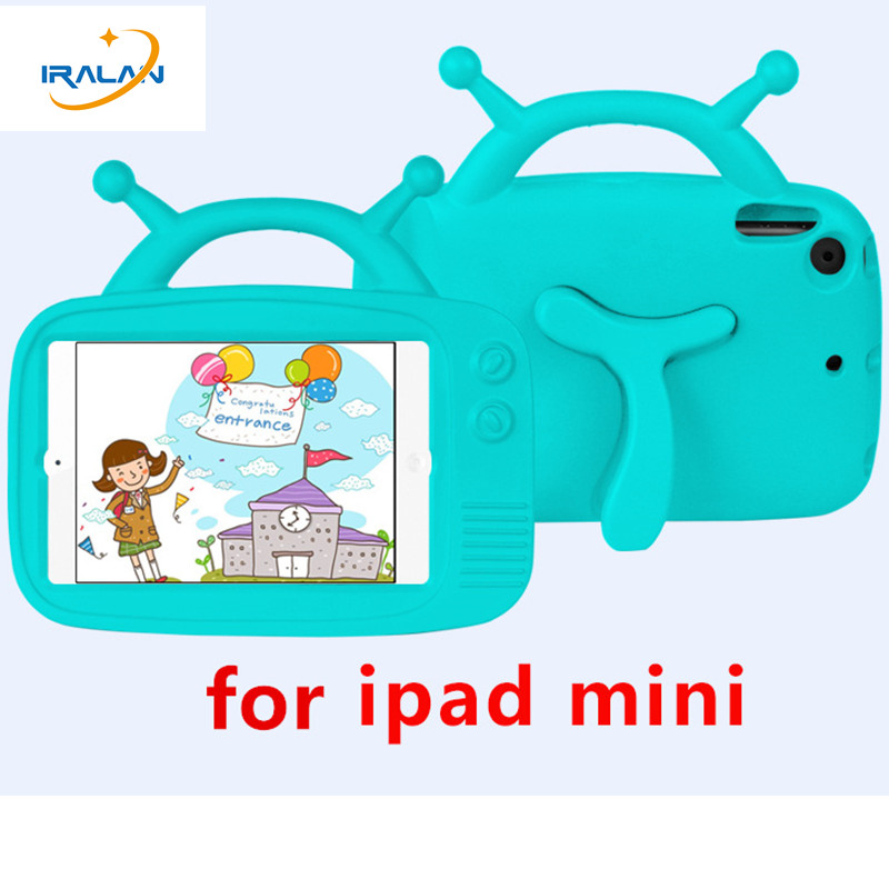 Kids Antenna baby EVA Case For Apple iPad Mini 1 2 3 4 Foam Shockproof Handle stand Cover for ipad mini 7.9 inch+free stylus pen