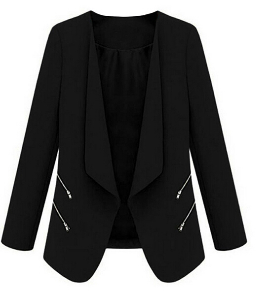 MYPF Fashion America and Europe Office Women Basic Slim Suit Foldable Blazer Slim Fit Jacket Cardigan Outwear Plus size S-XL 1