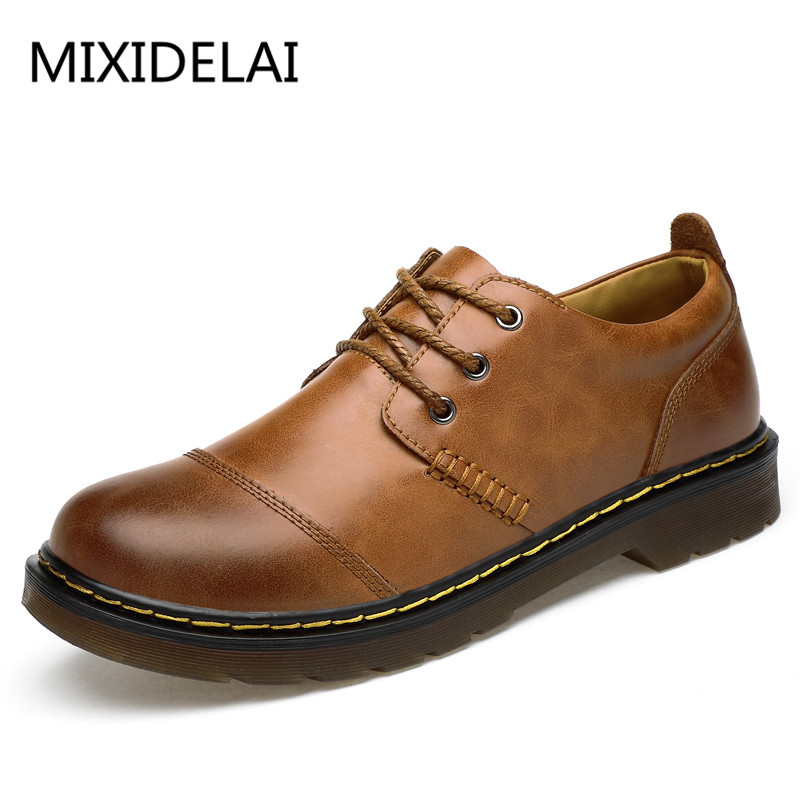 Mixidelai High Quality Mens Oxford Shoes Genuine Leather