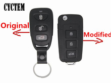 CYCTEM Car Key Cover 3+1 Buttons Modified Flip Remote Key Shell Fob Case Replacement Fit For Kia Sorento + Free Shipping