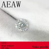 AEAW 9 мм 3ct карат алмаз эквивалент вес Потрясающие F бесцветный Муассанит без огранки Лаборатория Grown драгоценный камень бусины Роскошные юве