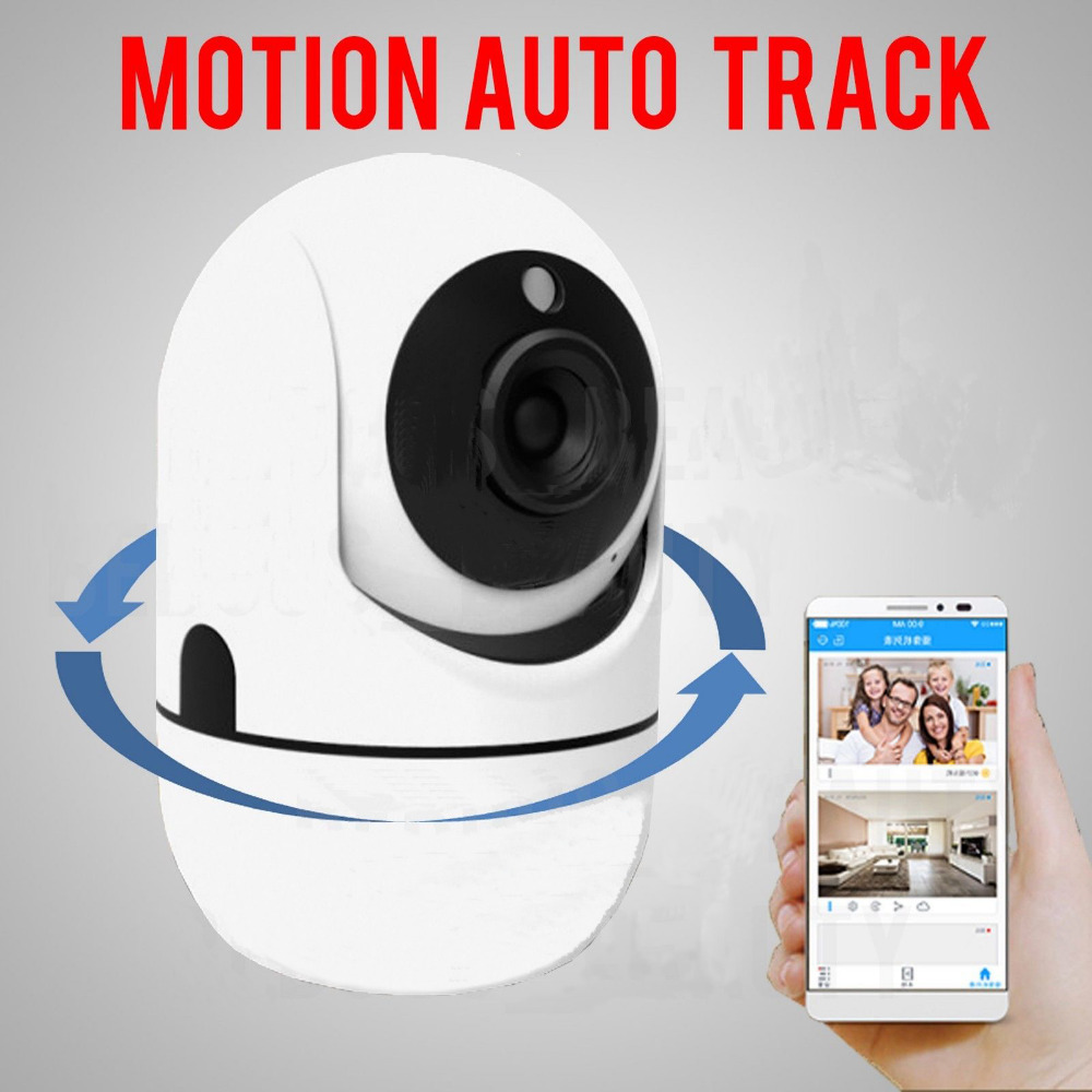 Intelligent AUTO TRACK HD 720P IP WiFI Wireless CCTV PTZ Camera Pet Baby Monitor Security Pan/Tilt, Two Way Audio, Night Vision