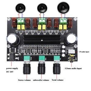 Image 2 - XH M573 TPA3116D2 80 วัตต์ + 80 วัตต์ + 100 วัตต์ 2.1 ช่อง TPA3116 เครื่องขยายเสียงดิจิตอลเบสซับวูฟเฟอร์ hifi วงจรขยาย B2 002